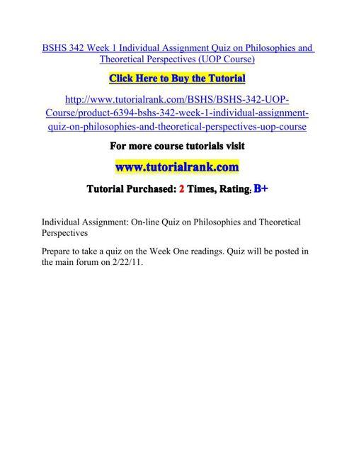 BSHS 342 Potential Instructors / tutorialrank.com