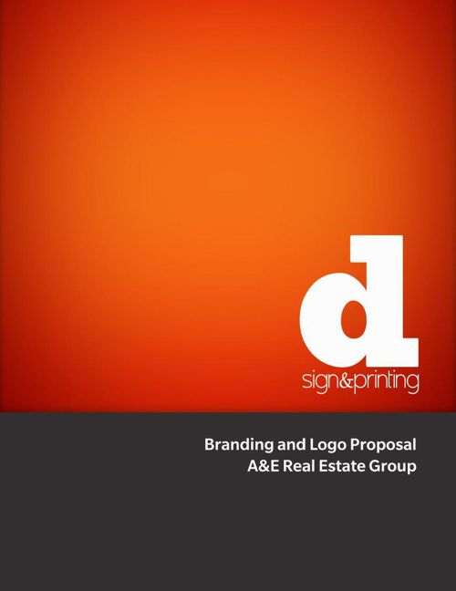 A&E Real Estate Group Branding Proposal