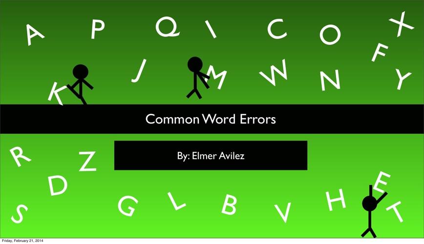 Common Word Errors