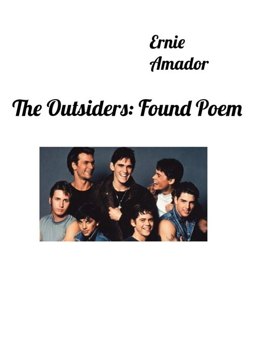 outsiders - Found Poem
