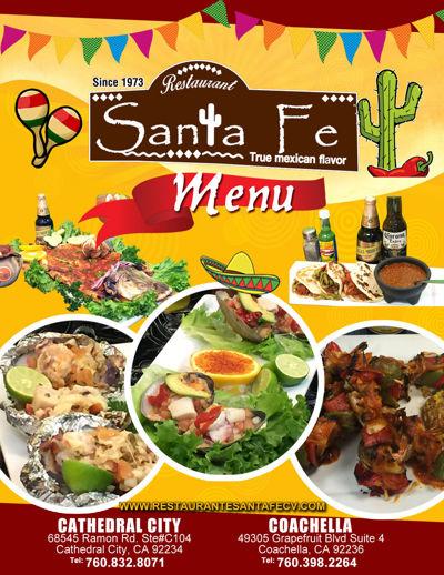 Santa Fe Restaurant Menu