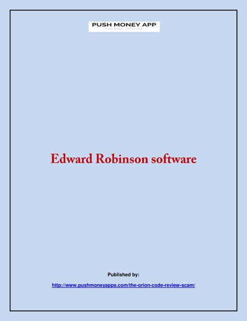 Edward Robinson software