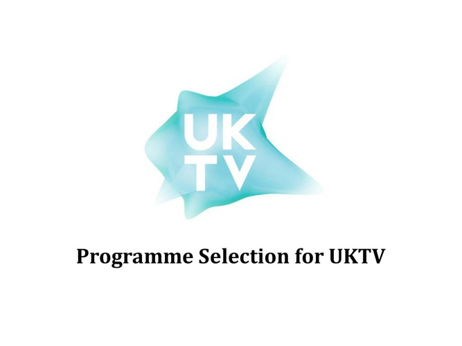 Programme Selection for UKTV