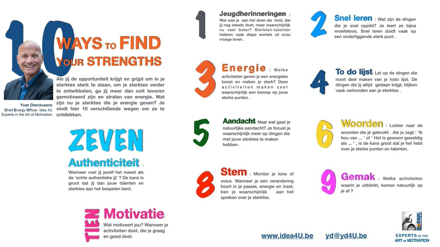 10 ways to find your strenghts