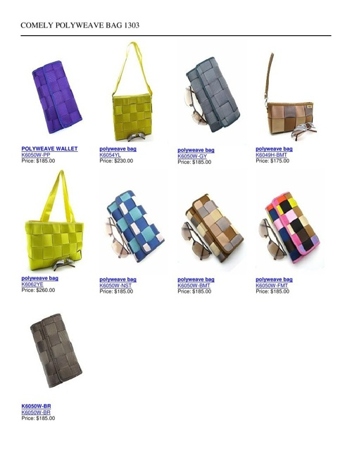 Comely Polyweave Bags Catalogue