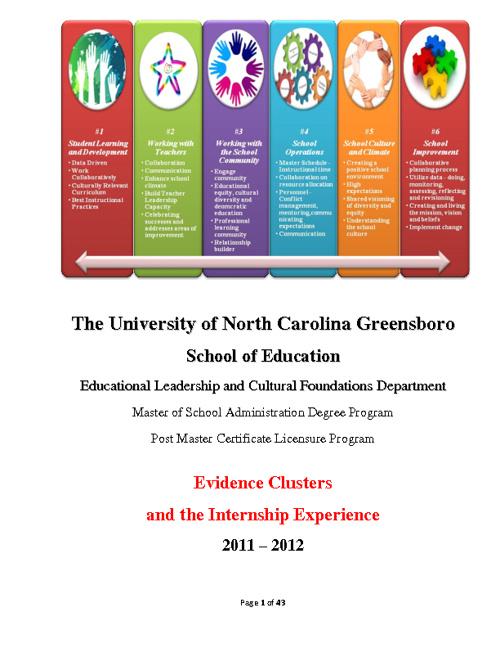 UNCG MSA/PMC Internship Experience Handbook 2011-2012