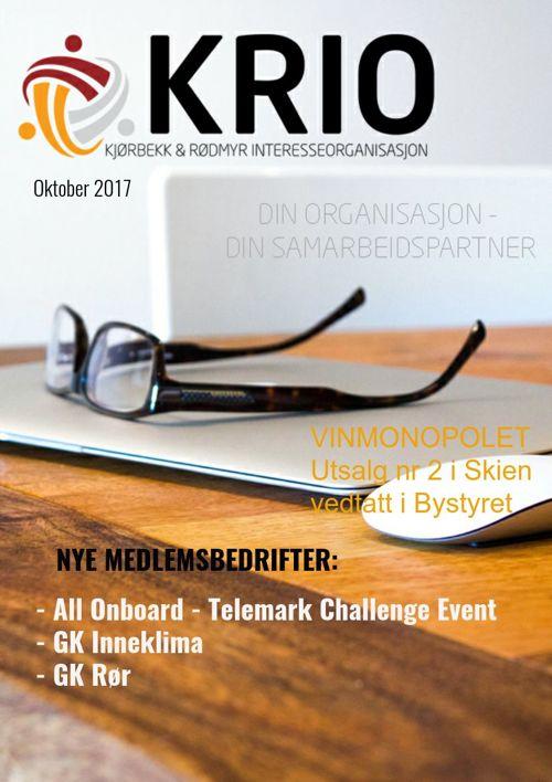 Krio medlemsblad okt 2017