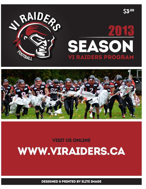 VI Raiders_2013 Program