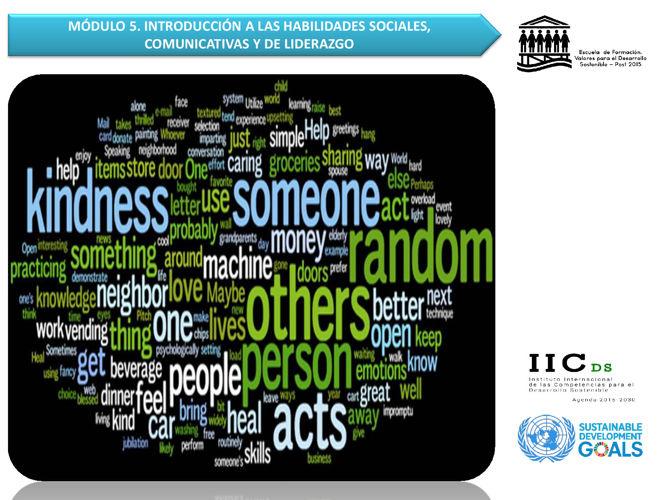 IVE: M5. COMPETENCIAS SOCIALES, COMUNICATIVAS Y LIDERAZGO