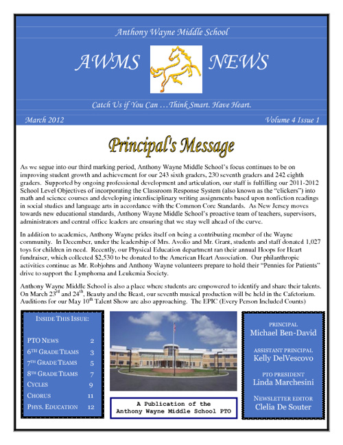 AWMS Newsletter - March 2012