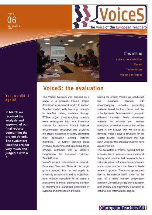 VoiceS Newsletter Issue 6