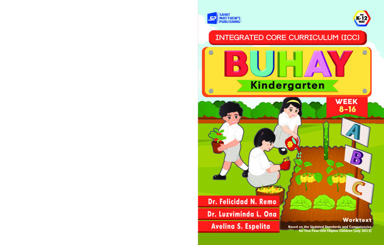 Integrated Core Curriculum (ICC)BUHAY Kindergarten Week 8-16