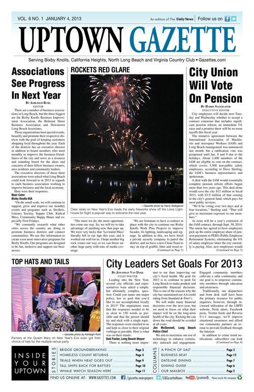 Uptown Gazette  |  January 4, 2013