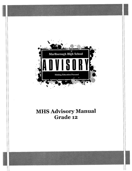 Marlborough High School Grade 12 Advisory Manual