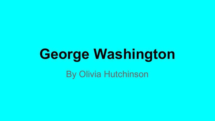 Copy of George Washington