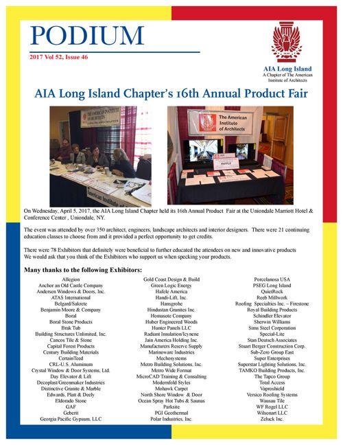 AIA Long Island Podium 52