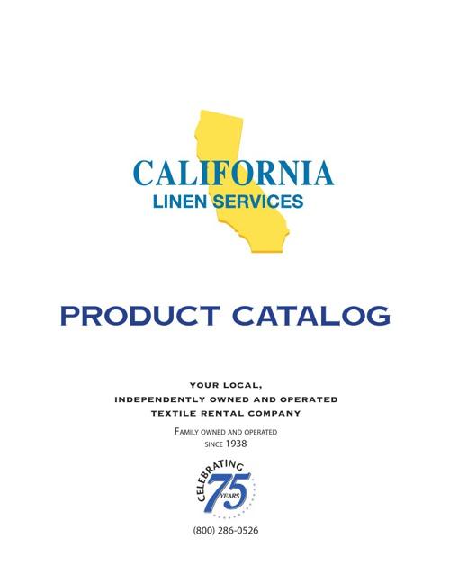 California Linen Service Catalog