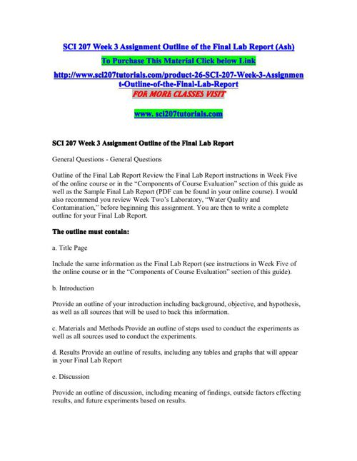 SCI 207 Week 5 - Final Lab Report