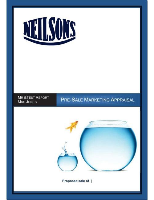 Locked Pre Sale Market Appraisal print