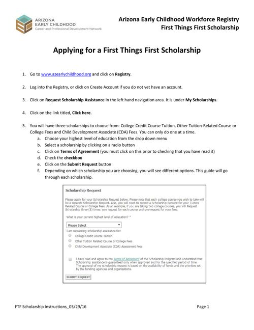 Scholarship Tutorial