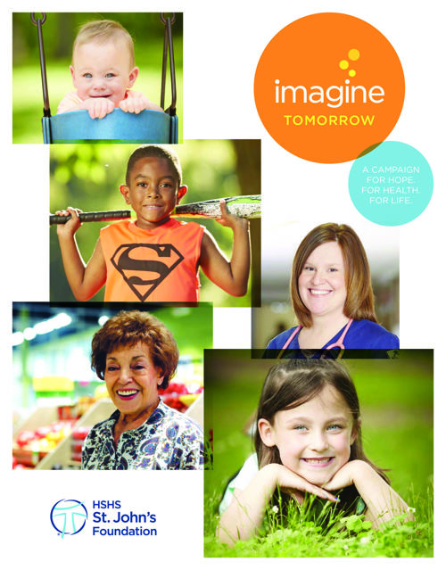 Imagine Tomorrow campaign brochure
