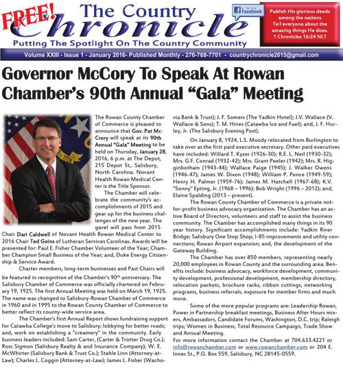 Country Chronicle - January 2016