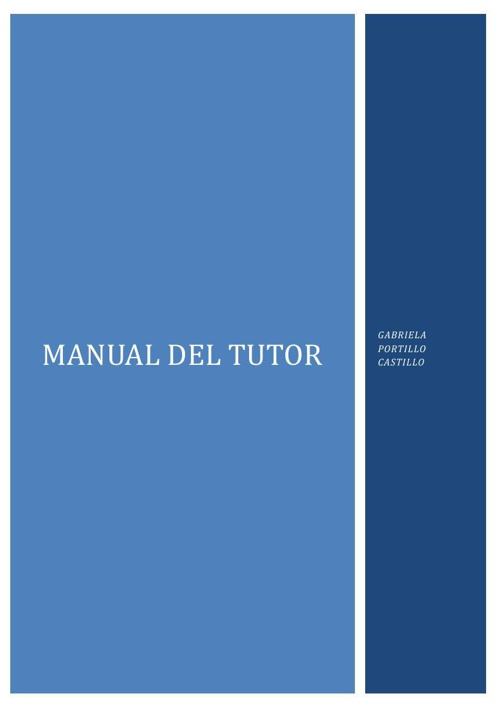 MANUAL PARA EL TUTOR