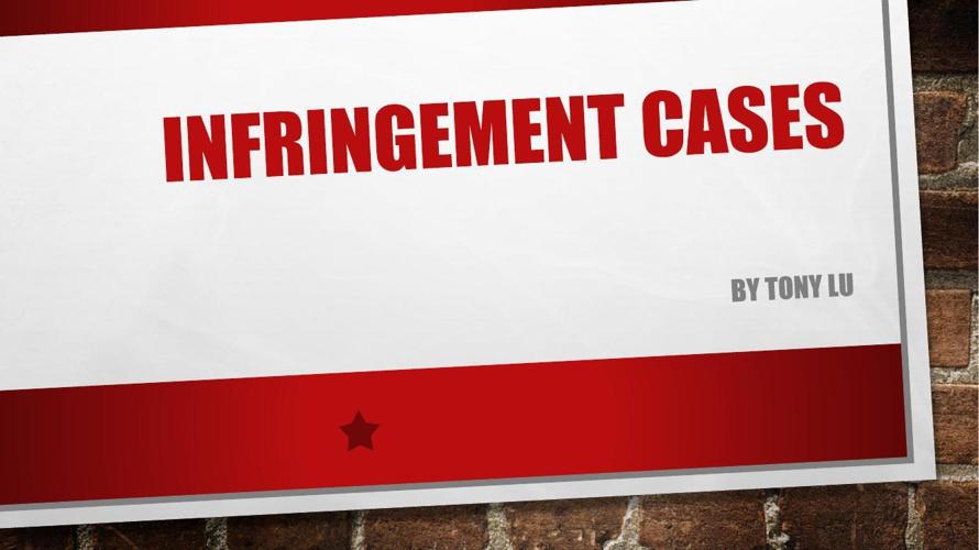 Lu Infringement cases