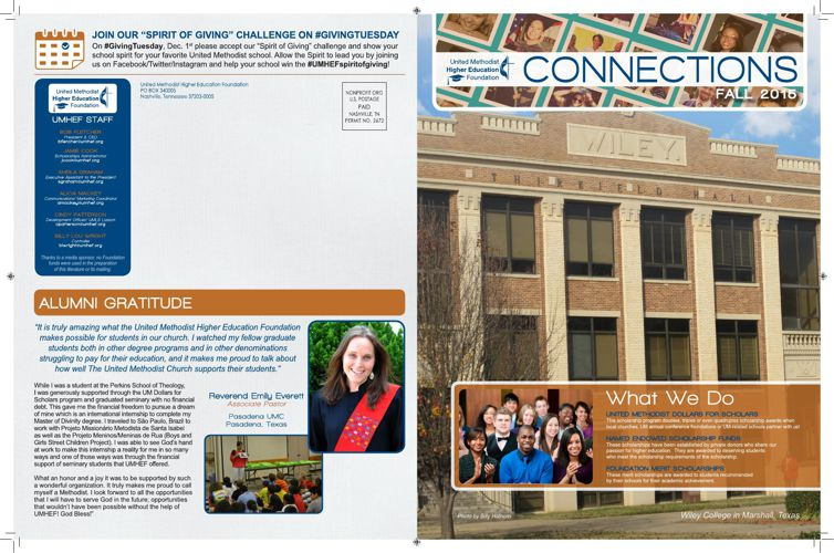 UMHEF Newsletter - Fall 2015
