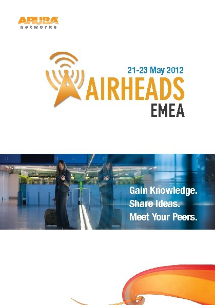 Airhead Conference, EMEA, 21-23 May