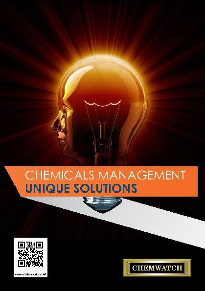 Chemwatch - Chemical Management Unique Solution