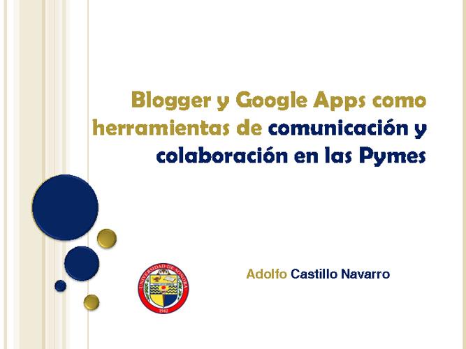 Blogger y Google Apps para Pymes