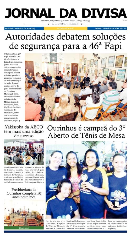 JORNAL DA DIVISA - Edição de 3 de Abril de 2012.