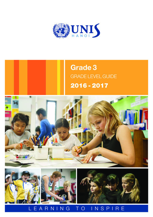 UNIS Hanoi Grade 3 Grade Level Guide 2016-2017