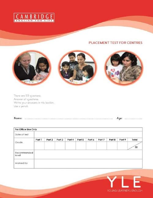 CEFL Placement Test Sample (Version2)
