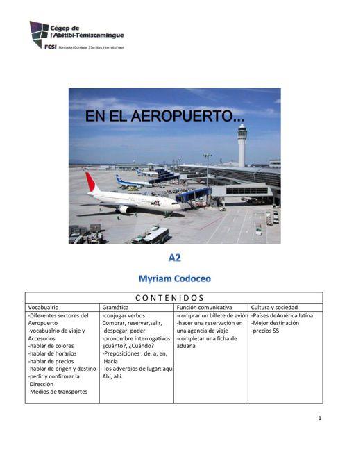 """Clase,""""en el  Aeropuerto"""""""