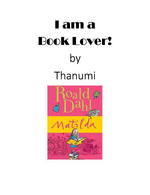 I Am A Book Lover!