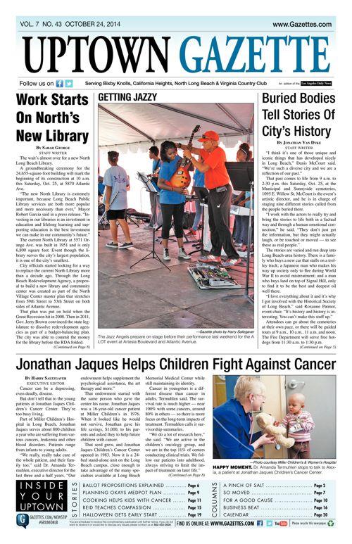 Uptown Gazette     October 24, 2014