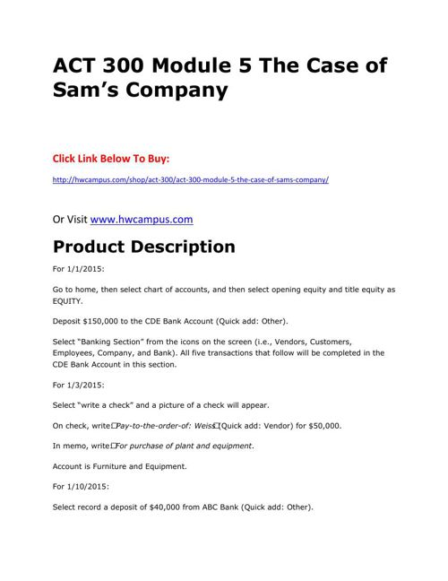 act300 module 1 the case of Act300module 1 -the case of kacy spade purchase here: by rosedonald 36 views.