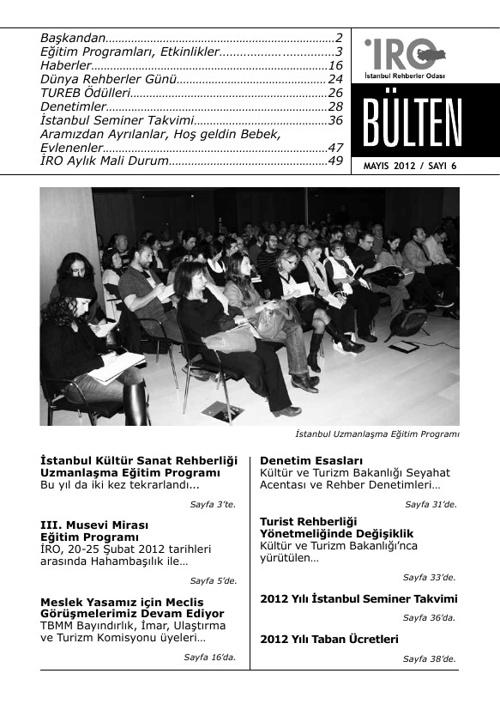 Copy of Istanbul Rehberler Odasi - Bulten