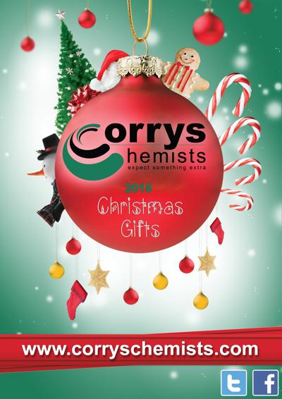 Corrys Chemists Christmas Brochure 2015