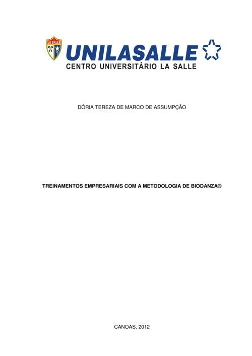 TREINAMENTOS EMPRESARIAIS COM A METODOLOGIA DE BIODANZA®