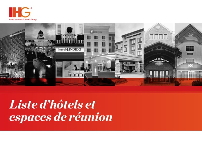 Liste d'hôtels et espaces de réunion