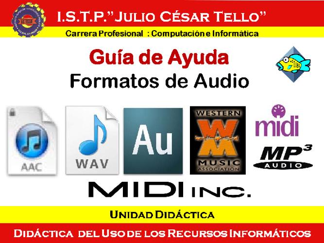 Formato audio