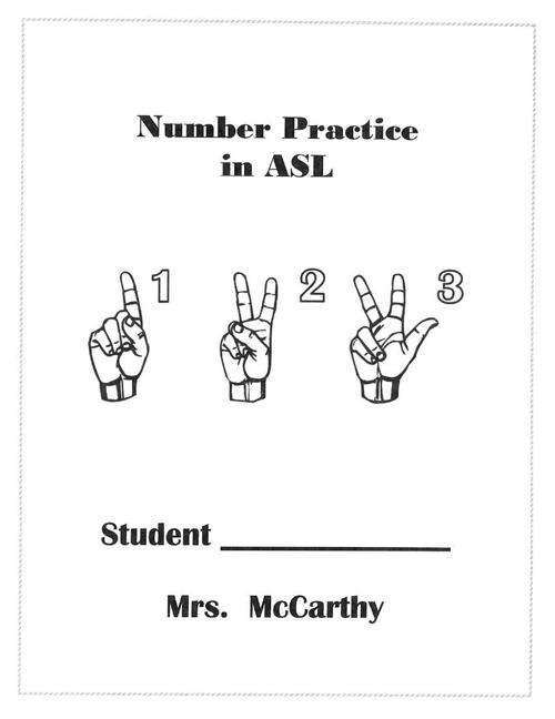 Number Practice in ASL