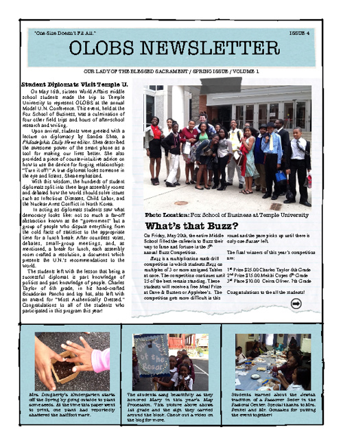 OLOBS Spring Newsletter