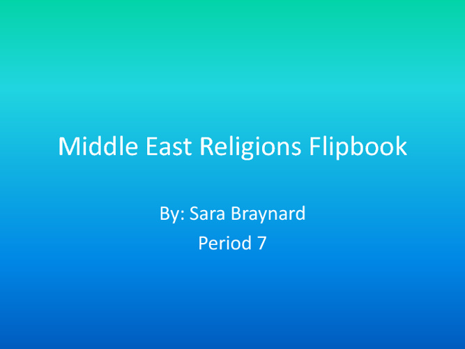 Middle East Religions Flipbook