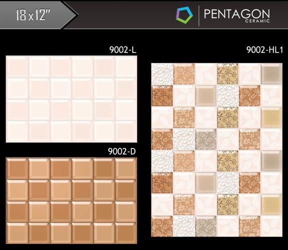 Pentagon Ceramic - 18x12 Digital Wail Tiles