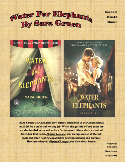Water For Elephants - Katie Boe