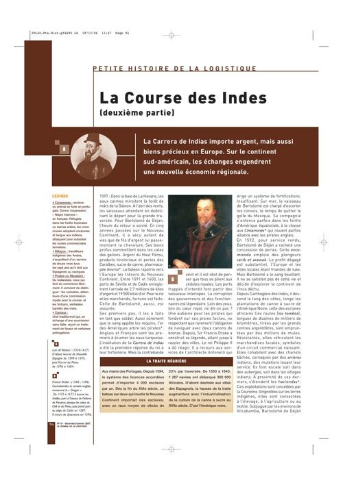 Journal de la Logistique Histoire 1